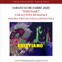 Locandina mostra Esistiamo - Casa di dante - dicembre 2020