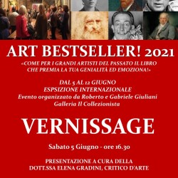 Invito mostra Art Best Seller ! 2021 - Museo Bellini - Firenze maggio 2021